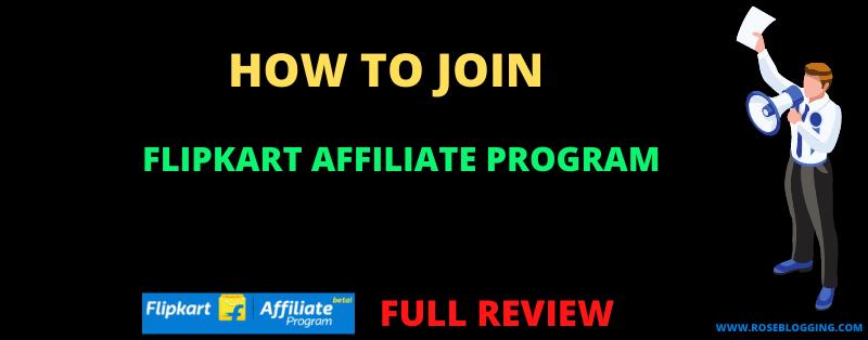 How To Join Flipkart Affiliate Program Easily