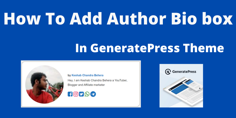 How To Add Author Bio Box in Generatepress