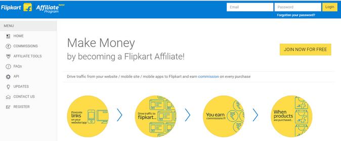Flipkar affiliate program registation